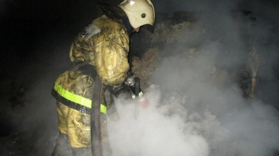 Ночной пожар в селе в Воронежской области уничтожил 18 построек и «шестерку»