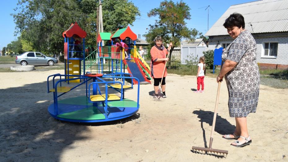 В Борисоглебске активисты установили первую детскую площадку в районе Макуревки