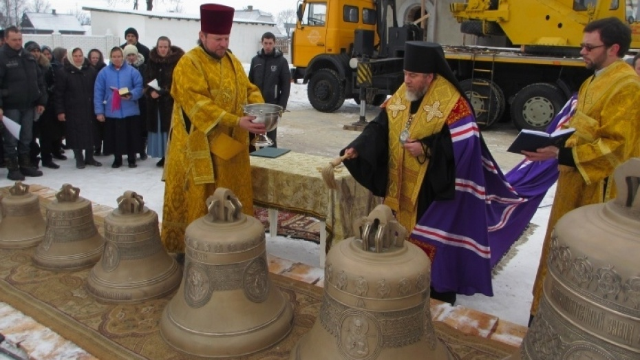 В Белоруссии освятили колокола, отлитые в Воронеже
