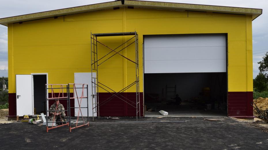 В рамонском селе Большая Верейка построили пожарное депо