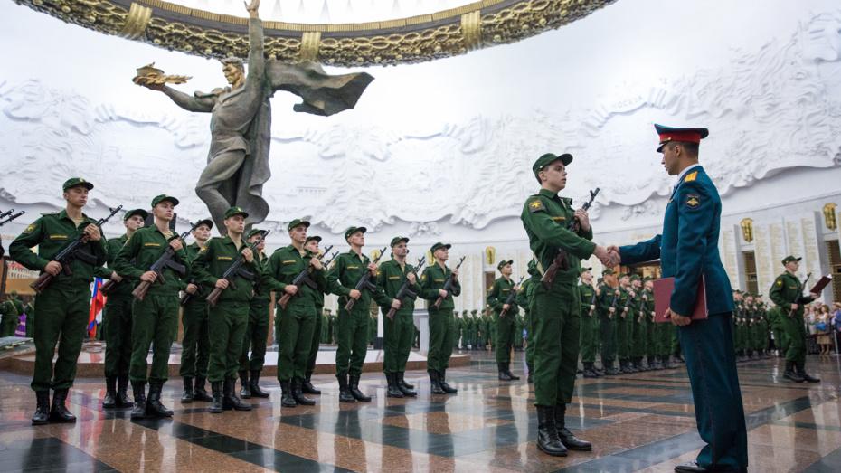 Призывники Татарстана приняли присягу наПоклонной горе