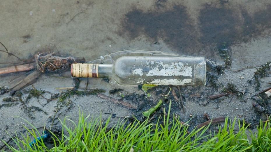В Воронеже у парка «Танаис» парня стукнули бутылкой по голове