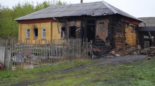 В Воронежской области на пожаре погиб безногий инвалид