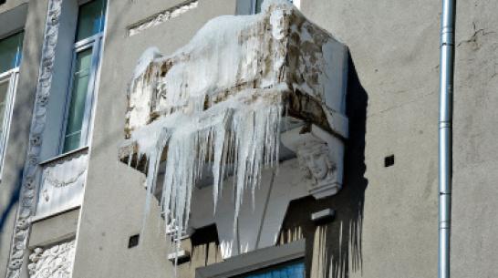 В январе жилинспекторы получили от воронежцев более 500 жалоб на снег и наледь