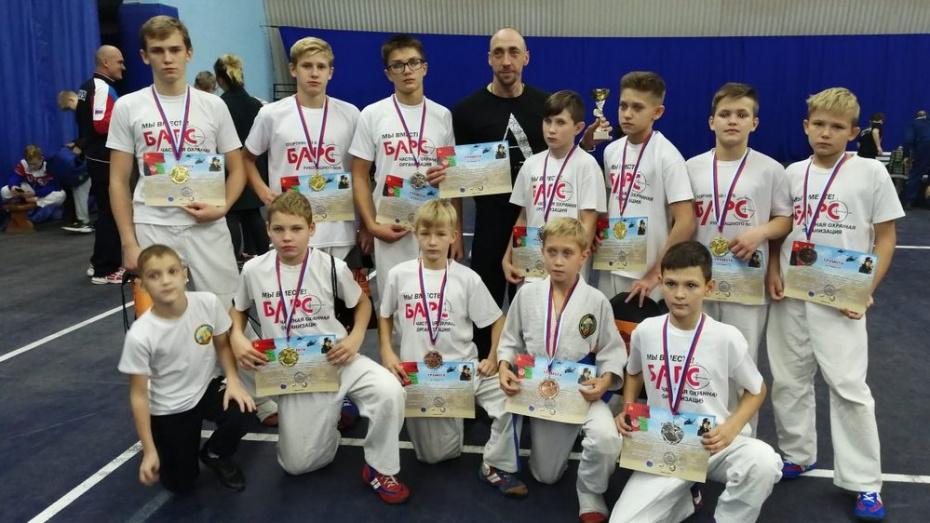 Борисоглебские рукопашники выиграли 5 золотых медалей на открытом турнире в Саратове