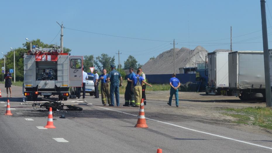 В Павловском районе в ДТП на трассе М-4 «Дон» мотоциклисту оторвало ногу
