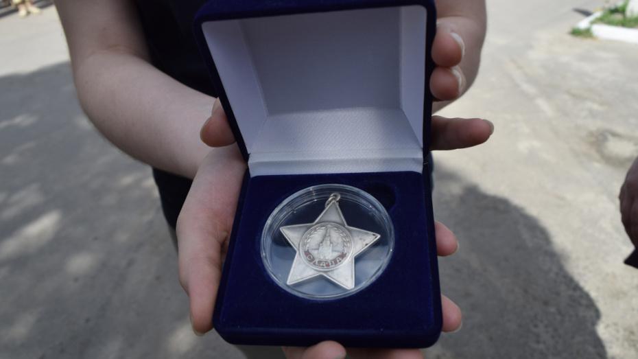 В Рамонском районе семье фронтовика вернули потерянный орден Славы