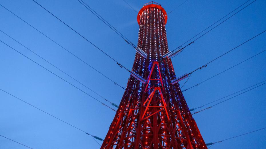 В Воронеже построили стилизованную под маяк ЛЭП высотой 46 м
