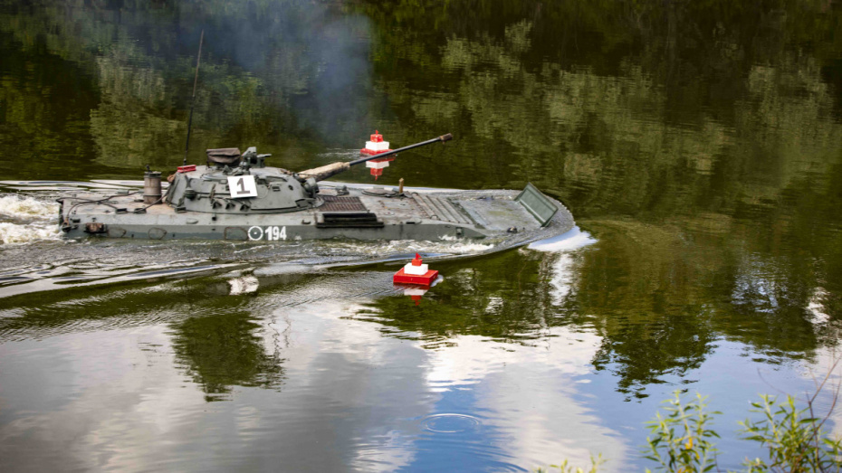 В Воронежской области прошли водные учения военных