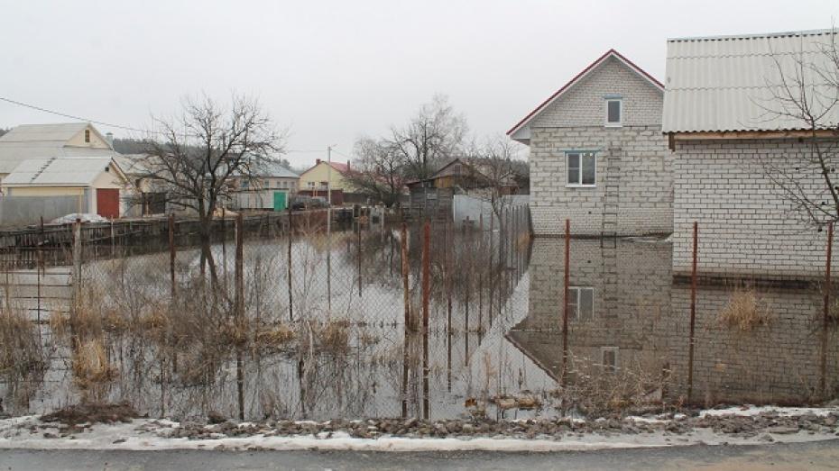 В Новоусманском районе вода из промышленного озера затопила поселок Шуберское