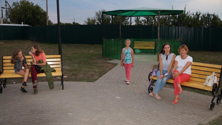 В богучарском селе Сухой Донец открыли парк отдыха