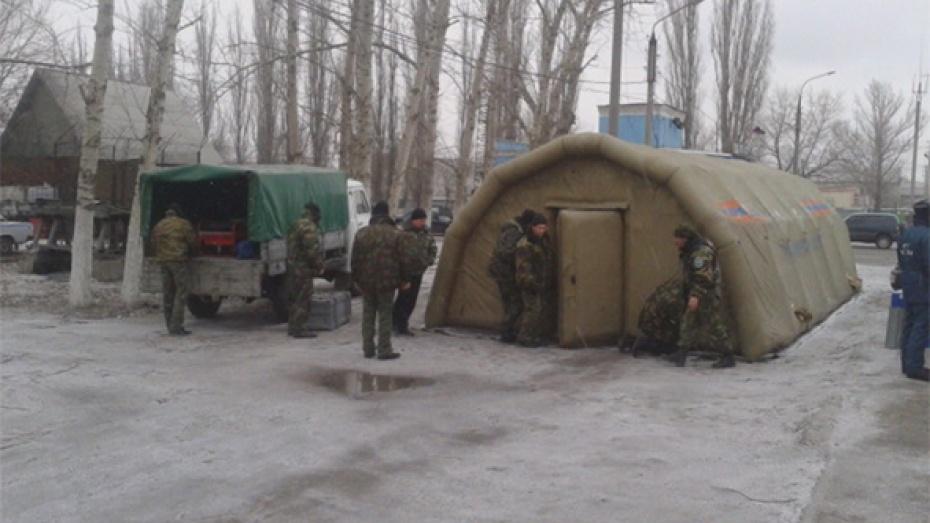 Из-за непогоды на трассе М-4 «Дон» поставили палатки