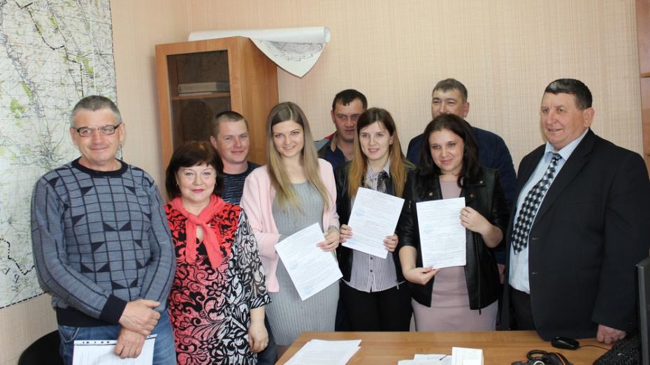 В Ольховатке 4 семьи получили субсидии на строительство жилья