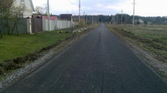 В лискинском селе Песковатка на асфальтирование дороги потратили 2,4 млн рублей