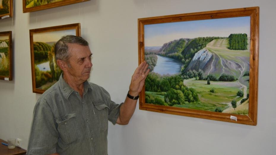 Богучарский художник написал около 30 картин с видами Дона