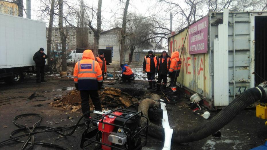 Участок коллектора на улице Землячки в Воронеже заменят к середине осени