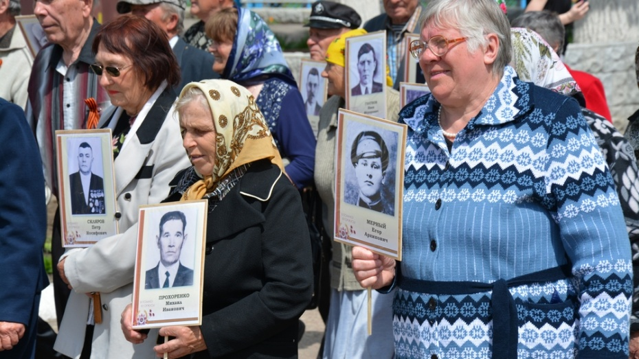 В россошанском селе впервые прошел парад Победы