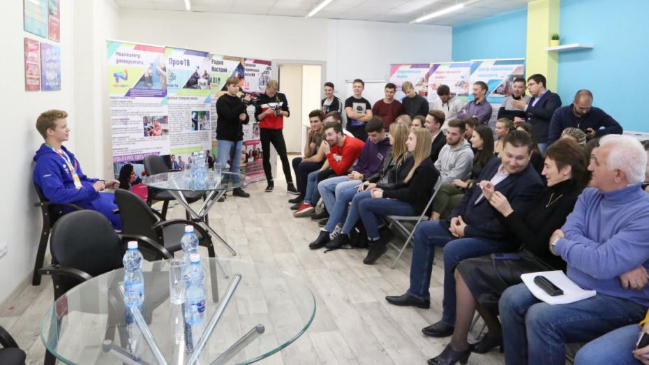 В воронежском опорном университете встретили олимпийского чемпиона