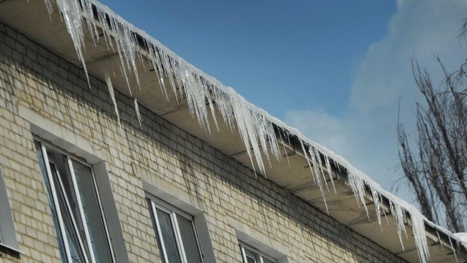 Вцентре Воронежа наочередного прохожего рухнула глыба льда скрыши дома