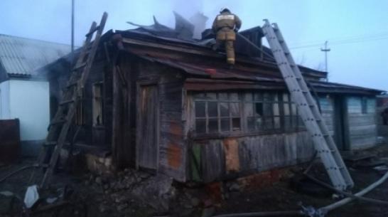 В воробьевском селе Елизаветовка при пожаре в деревянном доме погиб пенсионер