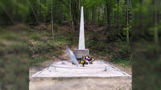 На месте гибели бобровского летчика в Чехии отремонтировали памятник