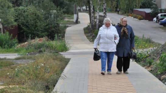 В Эртиле построили тротуар за 3,9 млн рублей