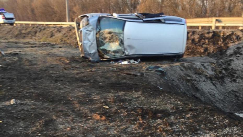 В Воронежской области перевернулся минивэн: пострадали 8 человек