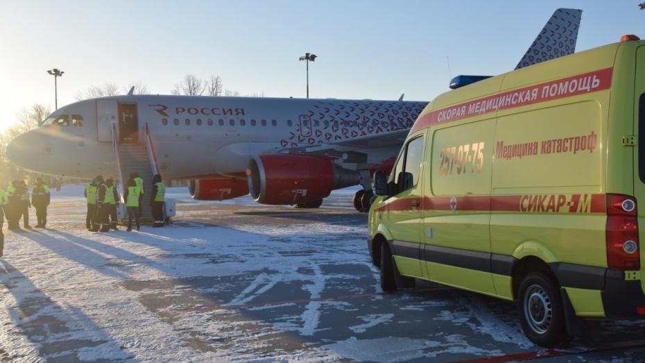 Летевший изРостова-на-Дону вСанкт-Петербург самолет экстренно приземлился вВоронеже