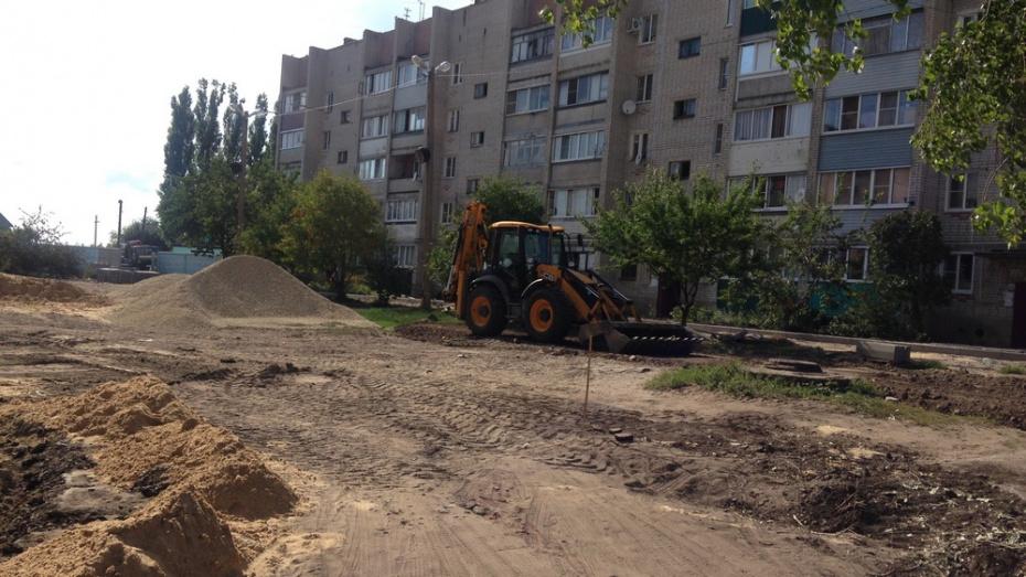 В Семилуках на благоустройство двух дворов потратят 7 млн рублей