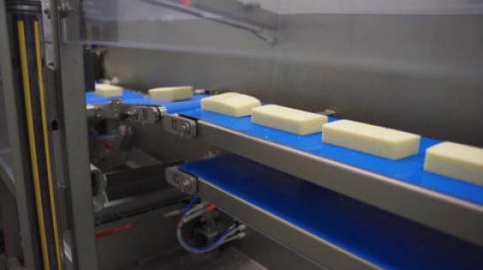 На воронежском «Молвесте» запустили новую линию по нарезке и упаковке сыра
