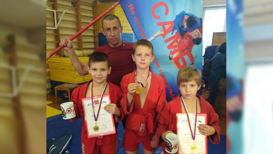 Лискинские самбисты завоевали 3 «золота» на областном турнире