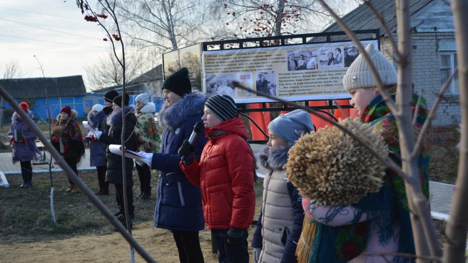 В Острогожском районе установили информационный стенд о жизни Гавриила Троепольского