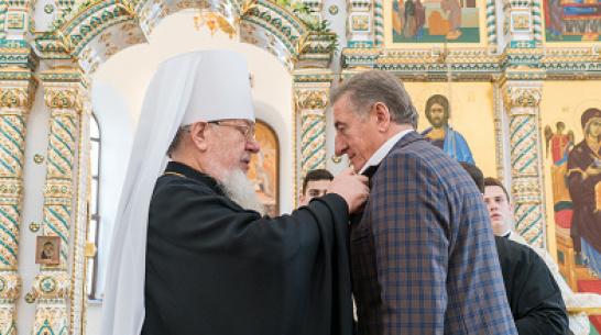 Сенатора Сергея Лукина удостоили медали святителя Митрофана Воронежского