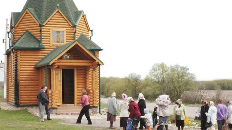 Воронежец построил в Хохольском районе часовню