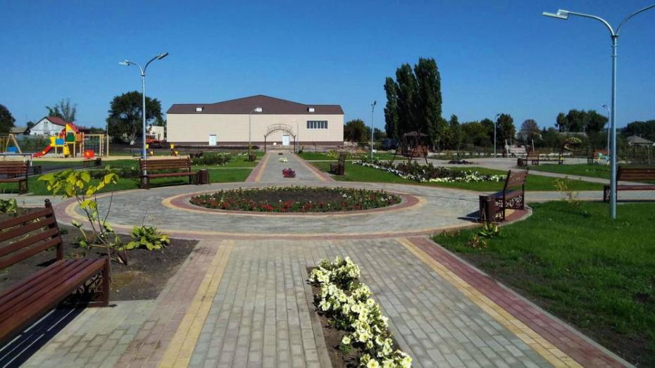 В лискинском селе Нижнемарьино сделали сквер за 7 млн рублей