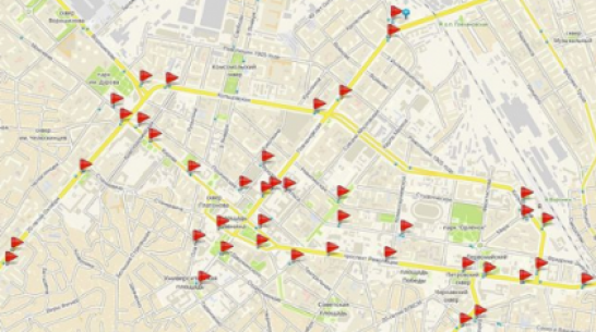 ГИБДД опубликовала карту с камерами видеофиксации нарушений в Воронеже