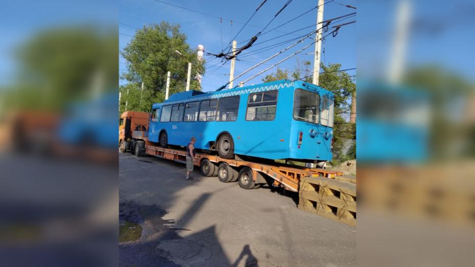 В Воронеж доставили последнюю партию троллейбусов из Москвы
