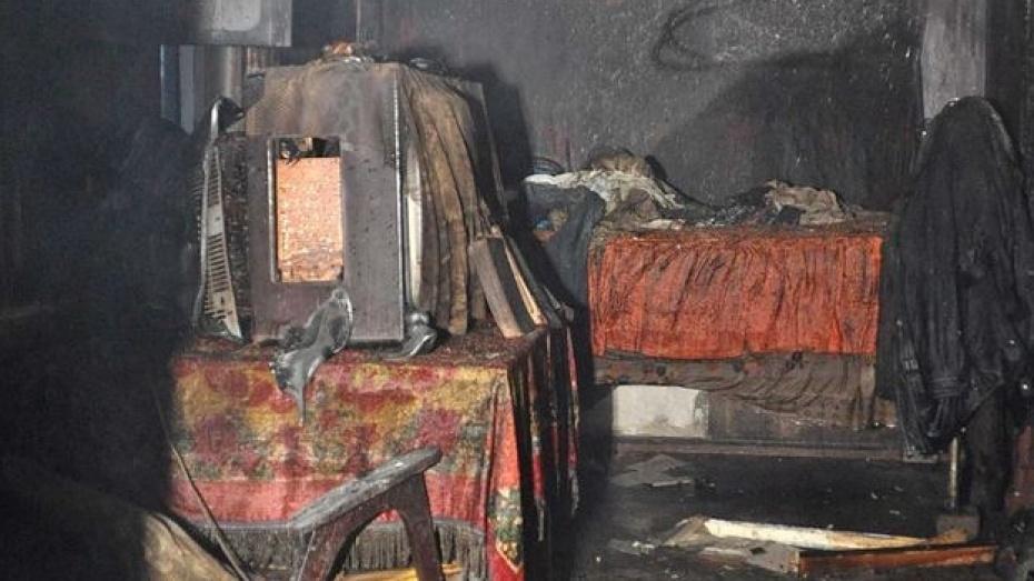 В Поворинском районе на пожаре погиб мужчина