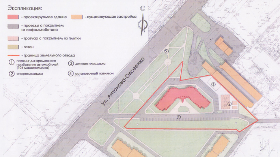 Жилой небоскреб появится в Воронеже на улице Антонова-Овсеенко в 2020 году