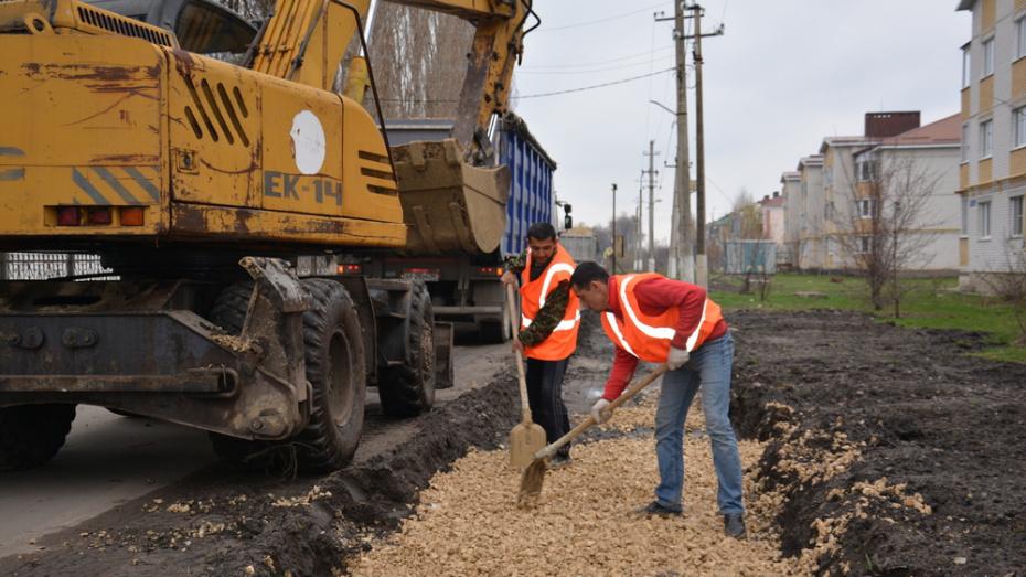 В Поворино на строительство тротуаров потратят около 6 млн рублей