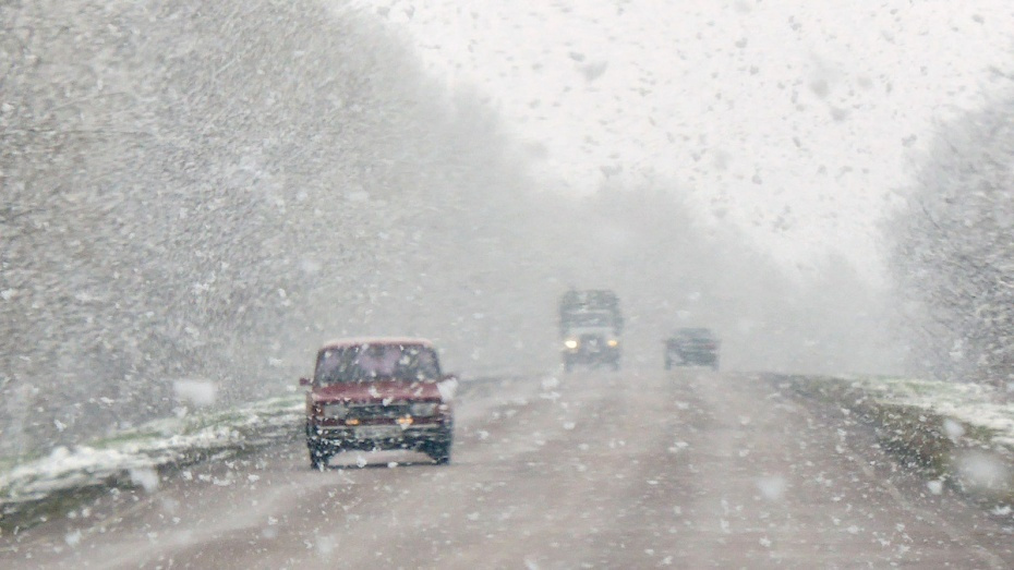 Воронежских водителей предупредили о мокром снеге и гололеде