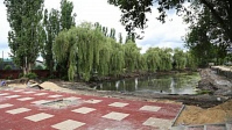 Воронежские службы очистили от ила озеро в сквере «Чайка»