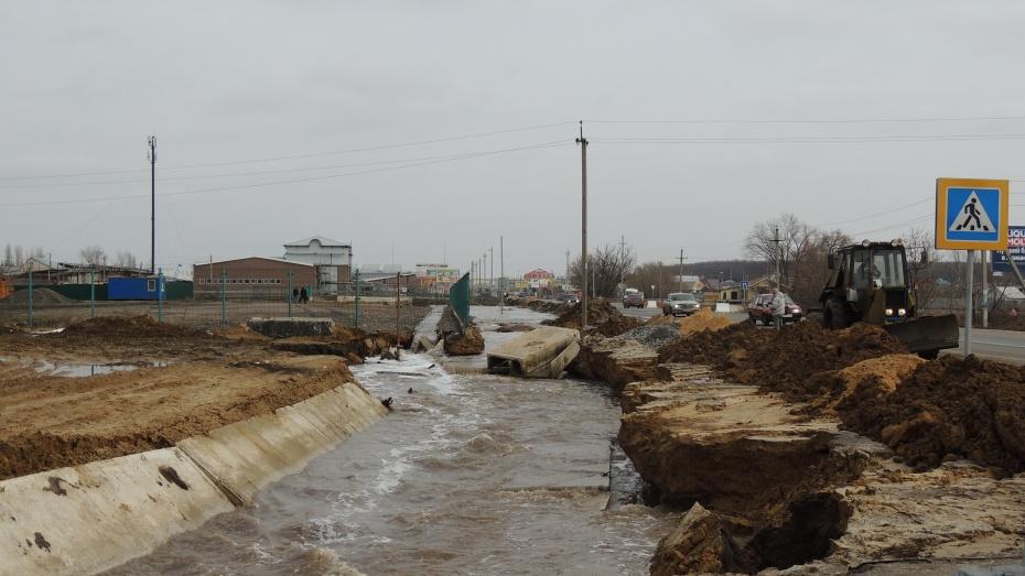 Минувшей ночью произошло подтопление федеральной трассы возле Бабяково