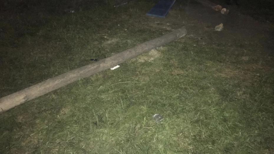 В Воронежской области ребенок получил переломы, упав вместе с качелями