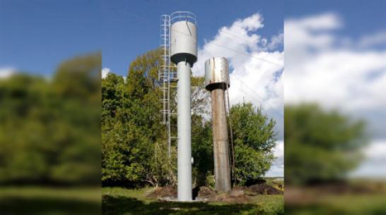 В панинском поселке Тойда-1 установили новую водонапорную башню
