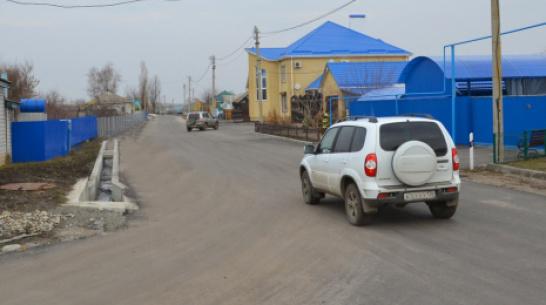 В лискинском селе Колыбелка на асфальтирование улиц потратили 2 млн рублей