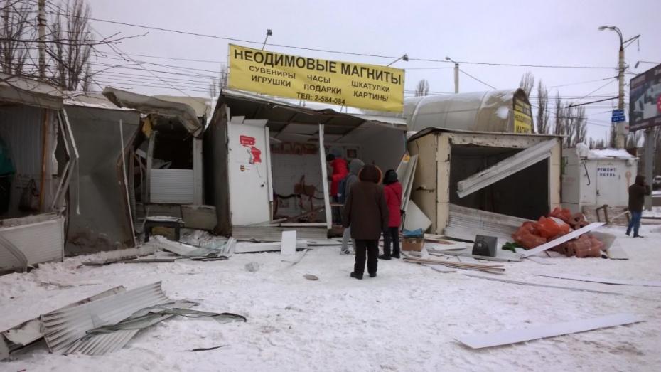 Невзирая напротесты предпринимателей, власти приступили кдемонтажу рынка «Остужевский»