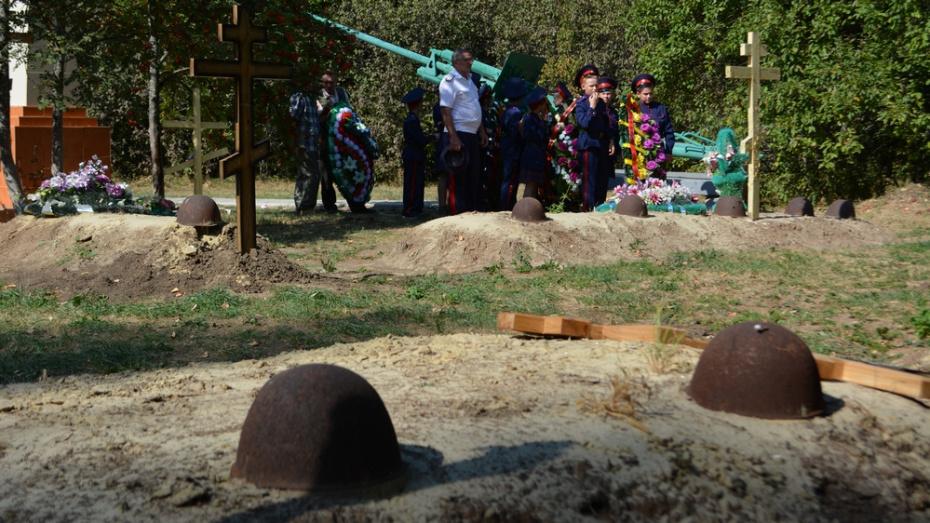 В Острогожском районе перезахоронили останки 27 красноармейцев