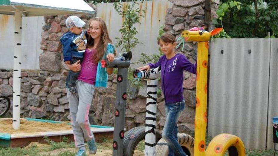 Россошанская детская площадка признана одной из лучших в области