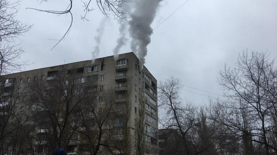Пожар на левом берегу Воронежа попал на видео
